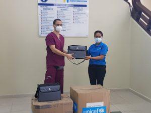 Hospital Juan Pablo Pina recibe donación de ventiladores para respuesta a COVID-19